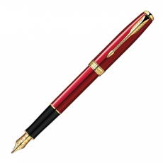 1859476 Ручка перьевая PARKER SONNET RED GT FP-18K F GB